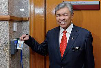 Zahid Hamidi first day as deputy prime minister Malaysia